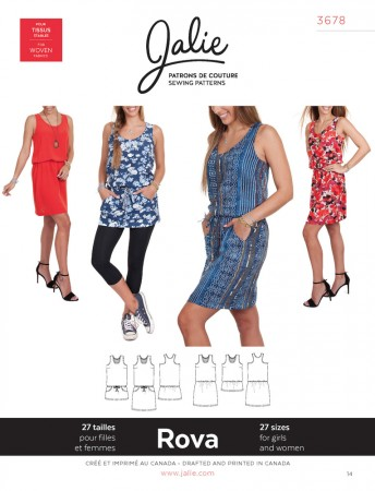 Jalie Pattern 3678 - ROVA Blouson Tank Dress and Tunic