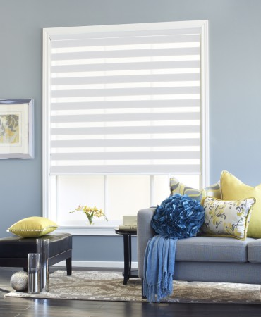 Open White Zebra Sheer Shade | Fabricville
