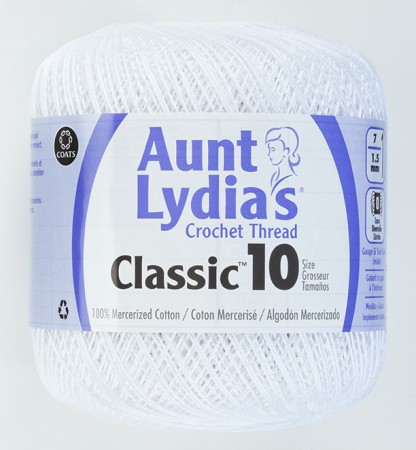 Aunt Lydia - CROCHET THREAD #10 320M WHITE