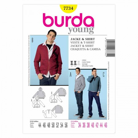 BURDA - 7734  Mens Top