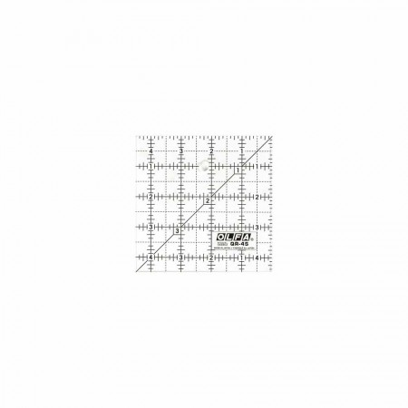 """OLFA QR-4S - 4½"""" Square Frosted Acrylic Ruler"""