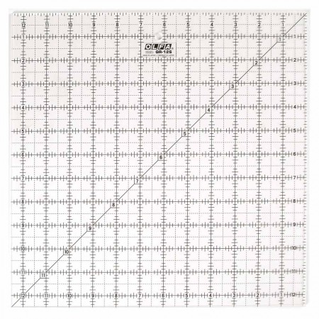 "OLFA QR-12S - 12½"" Square Frosted Acrylic Ruler"