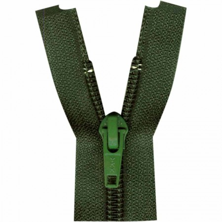 "COSTUMAKERS Activewear One Way Separating Zipper 23cm (9"") - Dark Green - 1760"