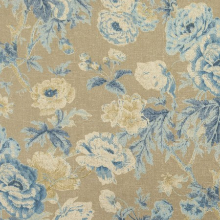 Home Decor Fabric - Waverly - Among The Roses Bluebell