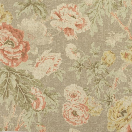 Home Decor Fabric - Waverly - Among the roses Rose