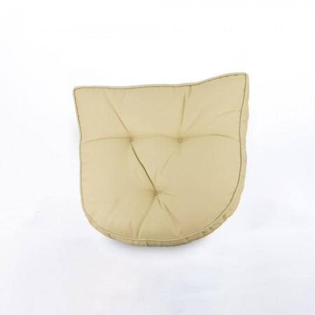 Indoor/Outdoor chair pad cushion - Solid - Beige - 19.5 x 19.5 x 2.7''