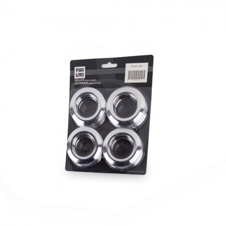 70mm - Plastic Grommets - Chrome