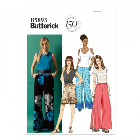 B5893 Misses' Shorts and Pants (size: LRG-XLG-XXL)