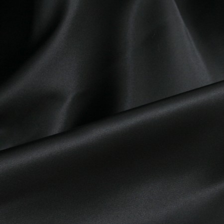 Crystal Heavy Matte Satin - Black