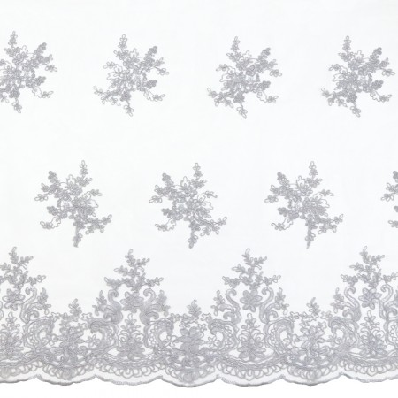 Erinn Embroidered Mesh - Silver