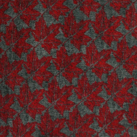 Canadiana Fleece Prints - Maple leaf - red / grey
