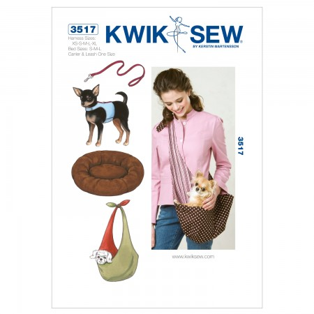 K3517 Harness, Leash, Bed and Carrier (size: Harness XS-S-M-L-XL; Bed S-M-LCarrier)