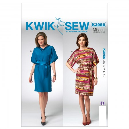 K3956 Misses' Dress (size: All Sizes In One Envelope)
