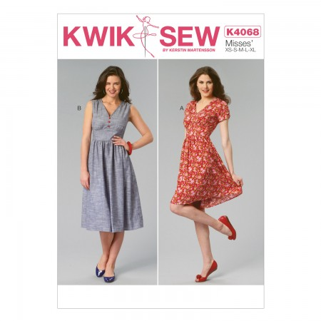 K4068 Misses' Dresses (size: All Sizes In One Envelope)