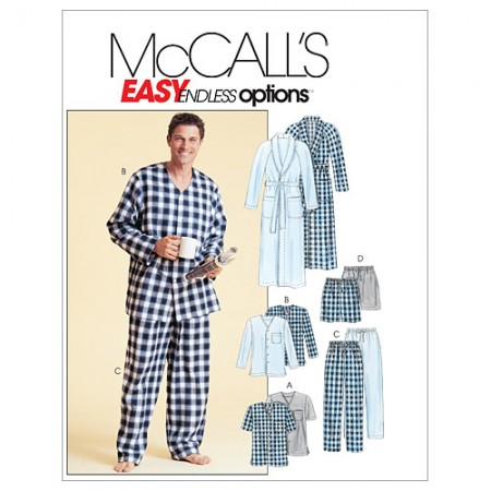 M4244 Men's Robe, Belt, Tops, Pants and Shorts (size: XLG-XXL)