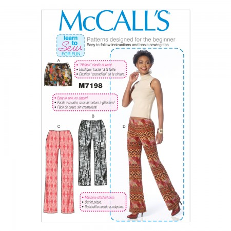 M7198 Misses' Shorts and Pants (Size: 6-8-10-12-14)