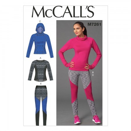 M7261 Misses' Tops and Leggings (Size: 6-8-10-12-14)