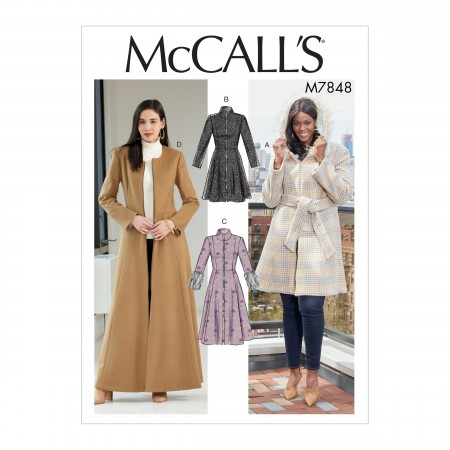 M7848 Misses'/Miss Petite and Women's/Women Petite Coats and Belt (size: 8-10-12-14-16)