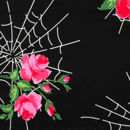 CHARMING by GERTIE Cotton Print - Kiss of spider women - Black