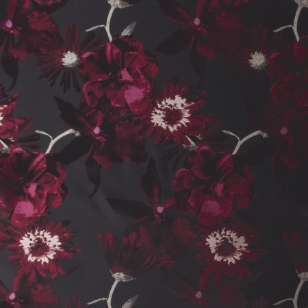 BOUFFANT Brocade - Black / Red wine