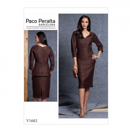 V1602 Misses' Top and Skirt (size: 6-8-10-12-14)