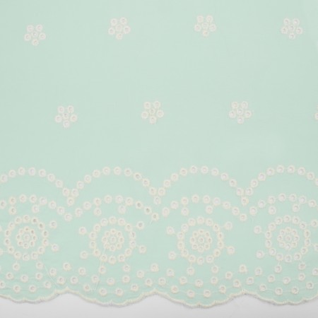 CARMEN Embroidered Rayon - Mint