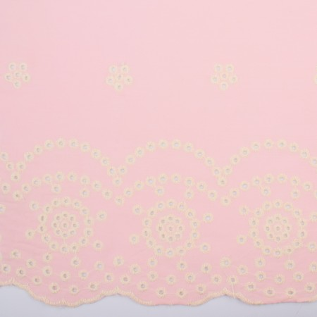 CARMEN Embroidered Rayon - Baby pink