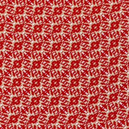 CECEE Rayon Voile Coordinate - Oriental - Red