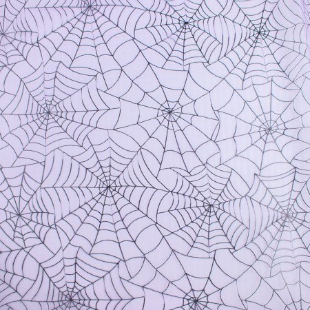 Halloween Foil Organza - Web - Purple