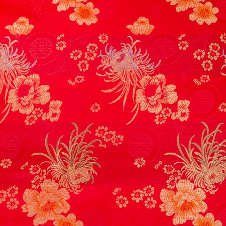 Chinese Brocade - Camelia - red / gold