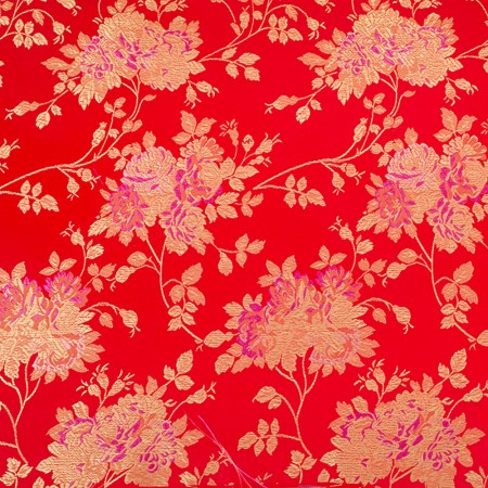 Chinese Brocade - Chinese rose - red / gold