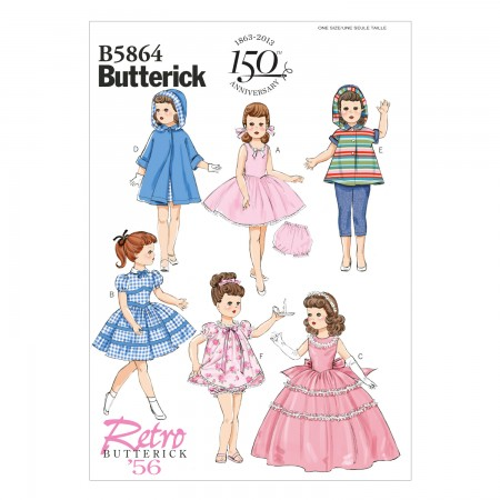 """B5864 Clothes For 18"""" Doll (size: One Size Only)"""