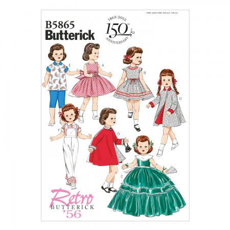 """B5865 Clothes For 18"""" Doll (size: One Size Only)"""