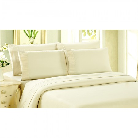Bamboo Living - Comfort and Soft Fitted Sheet - Ivory