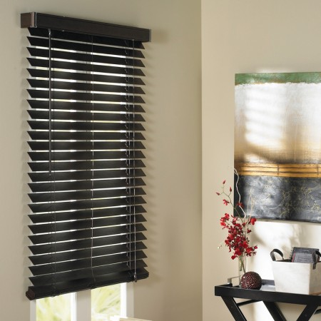 TRISTAN FAUX-WOOD BLINDS - Dark Brown 36 x 84