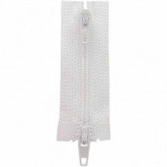 "COSTUMAKERS Activewear Two Way Separating Zipper 50cm (20"") - White - 1704"