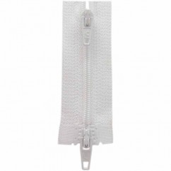 "COSTUMAKERS Activewear Two Way Separating Zipper 55cm (22"") - White - 1704"