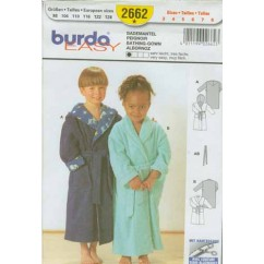 BURDA - 2662 Child Unisex Bathrobe