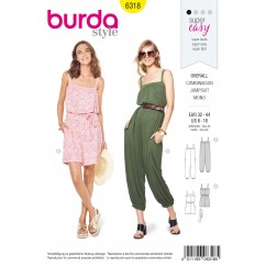 BURDA - 6318 Jumpsuit with Band and Straps