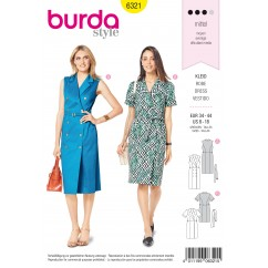 BURDA - 6321 Dress with Lapels – Double Breasted with Belt