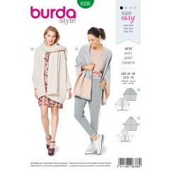BURDA - 6336 Over-size Jacket – Clever Lines – with a Shawl Collar