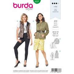 BURDA - 6337 Quilted Jacket with Zip Fastening – Hooded Vest