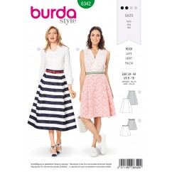 BURDA - 6342 Skirt with Side Pleats – A-Line