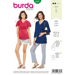 BURDA - 6347 Draped Maternity Top
