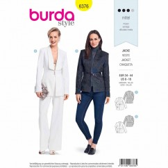 BURDA 6376 - Couture Blazer with an Interesting Collar