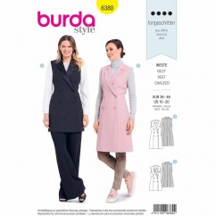 BURDA 6380 - Double Breasted Vest/Waistcoat with Lapels