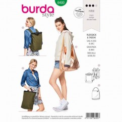 BURDA - 6400 Stylish City Backpack/Rucksack - Shopper with Zip Fastener