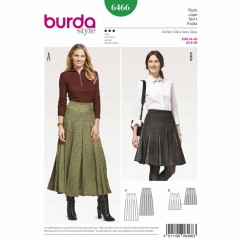 BURDA - 6466 Ladies Skirt