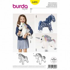 BURDA - 6495 Accessories -  Horse/Unicorn