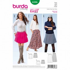 BURDA - 6586 Ladies Skirt